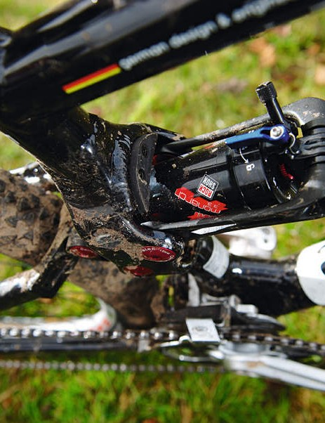 Corratec's nodding twin circle shock cradle  rides surprisingly well