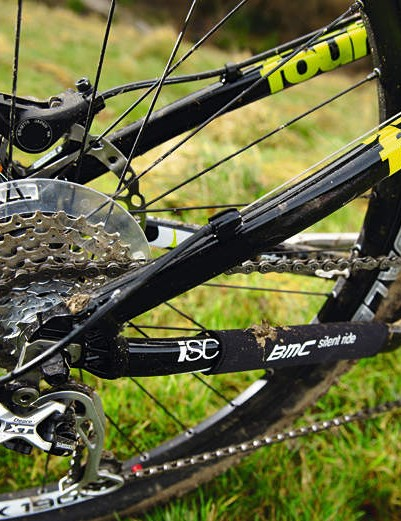 A stiff rear subframe and XT kit make for a proper trail bike