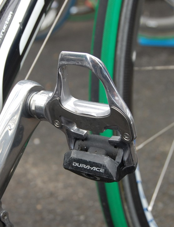 Maaskant used tried-and-true Dura-Ace SPD-SL pedals.