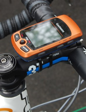 A Garmin Edge 705 computer kept Maaskant abreast of upcoming sections of pavé.