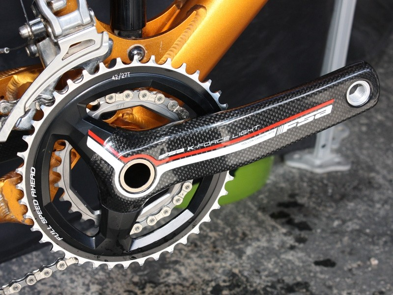 FSA will offer the new cranks in K-Force Light carbon fiber and Afterburner hollow-forged aluminum varieties