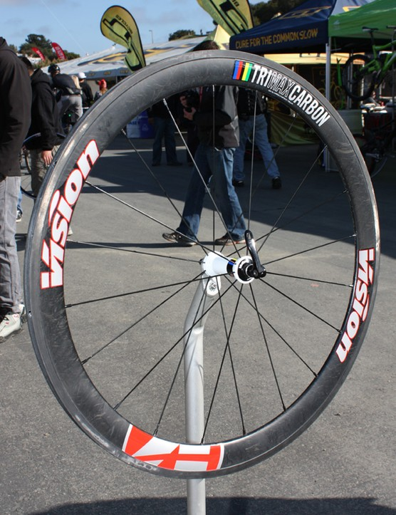 FSA launched a new range of aero wheels at this year's Sea Otter Classic under their Vision nameplate