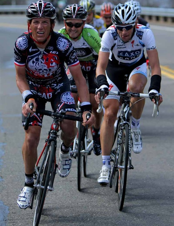 Tyler Hamilton in action at the 2009 Tour of California, his last hurrah.