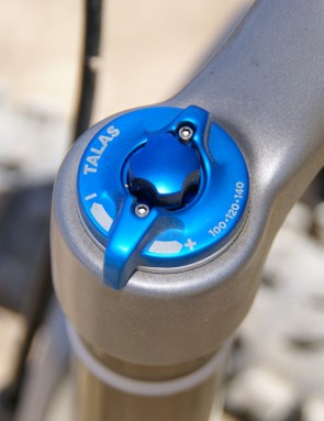 Updated TALAS travel adjust knobs are now bigger and smoother, making them easier to grab while on the trail.