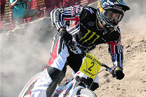 Sam Hill won the Sea Otter dual slalom
