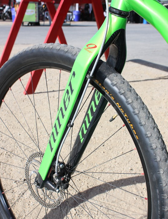 Niner also showed off their new carbon rigid fork