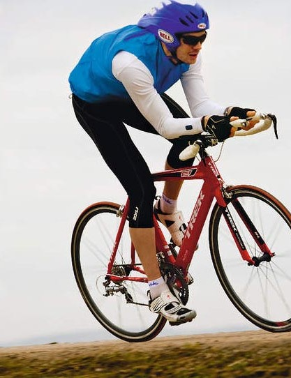 It may be large and hefty but the Trek is one of the most aerodynamic bikes available