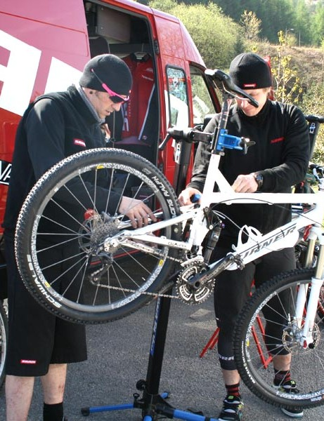 SRAM technicians at work