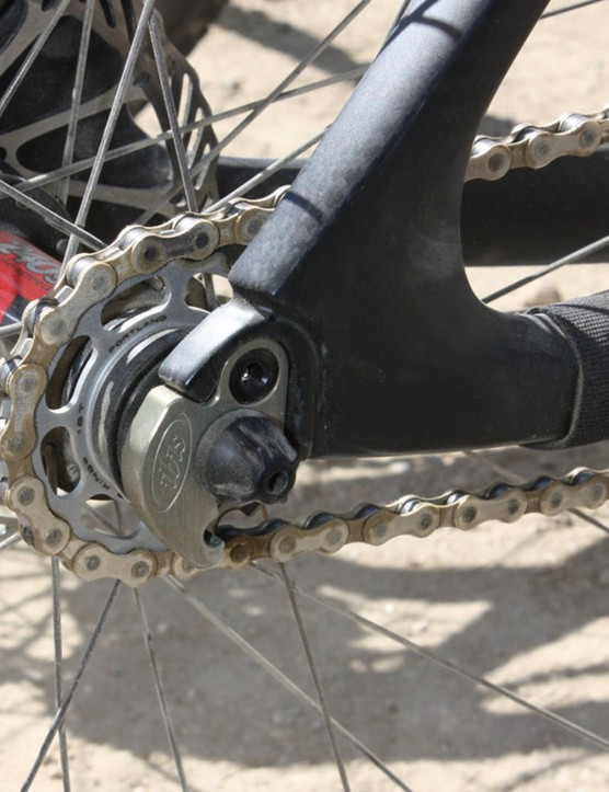 The singlespeed-specific 'hanger' replaces the standard bit with a bottle opener.