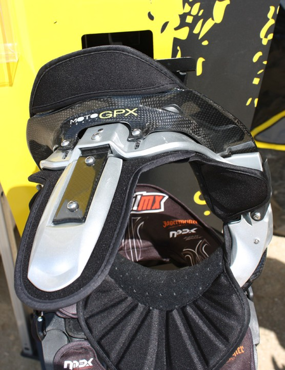 The front and rear extensions prevent excessive neck flexion in those directions.