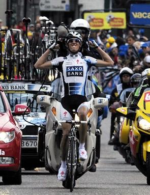 Andy Schleck wins Liege-Bastogne-Liege