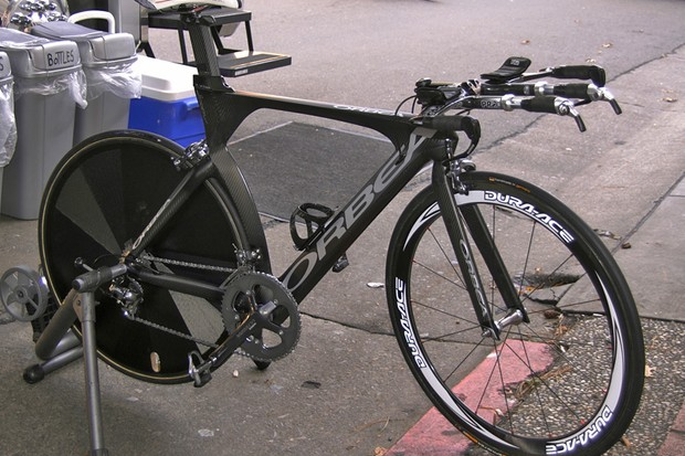 Matt Wilson's (Team Type 1) Orbea Ordu is one of the most distinctively shaped time trial bikes among the professional ranks