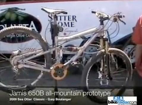 The Jamis 650B all-mountain prototype.