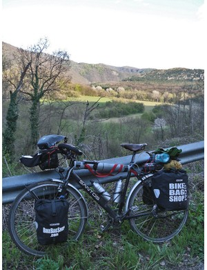 James Bowthorpe's Santos belt drive bike in Bulgaria