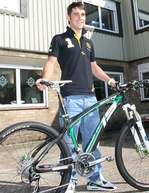 Billy Whenman with his carbon Whyte 19