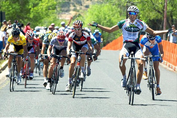 All in a day's work for Colavita's Sebastian Haedo in New Mexico on April 30, 2009.