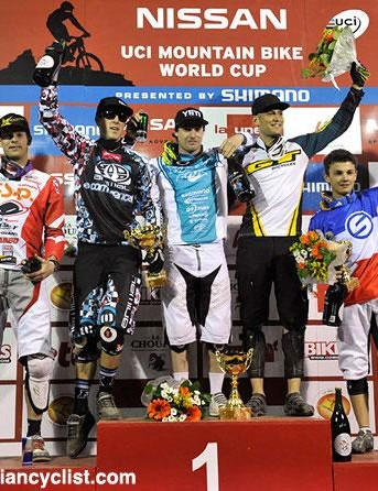 Podium (L-R): Joost Wichman, Dan Atherton, Jared Graves, Roger Rinderknecht and Romain Saladini.