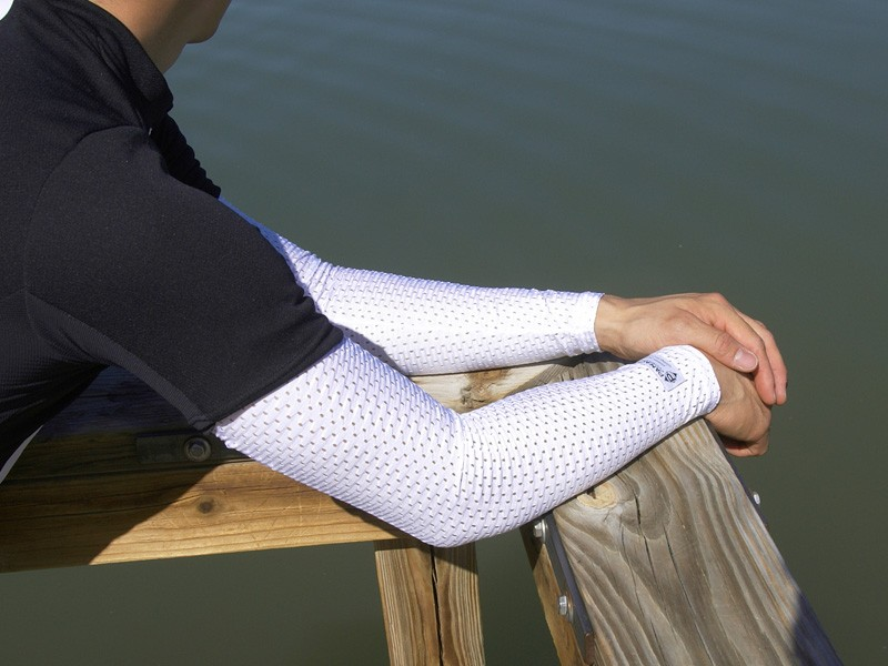 The Panache Arm Screens look odd but are surprisingly effective at keeping the sun's rays off your skin to help you stay cool