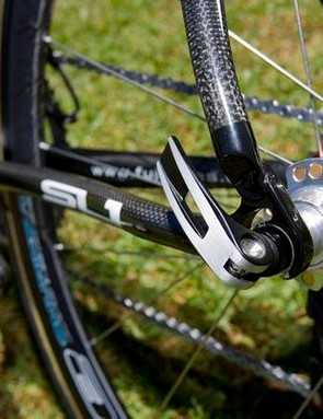 Aluminium is used for the dropouts, bottom bracket sleeve and headset inserts