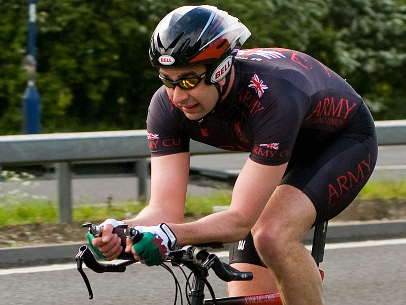 UK cyclist and army major Gareth Evans was hit by a car and died while competing in a time trial in Bedfordshire on May 3 (