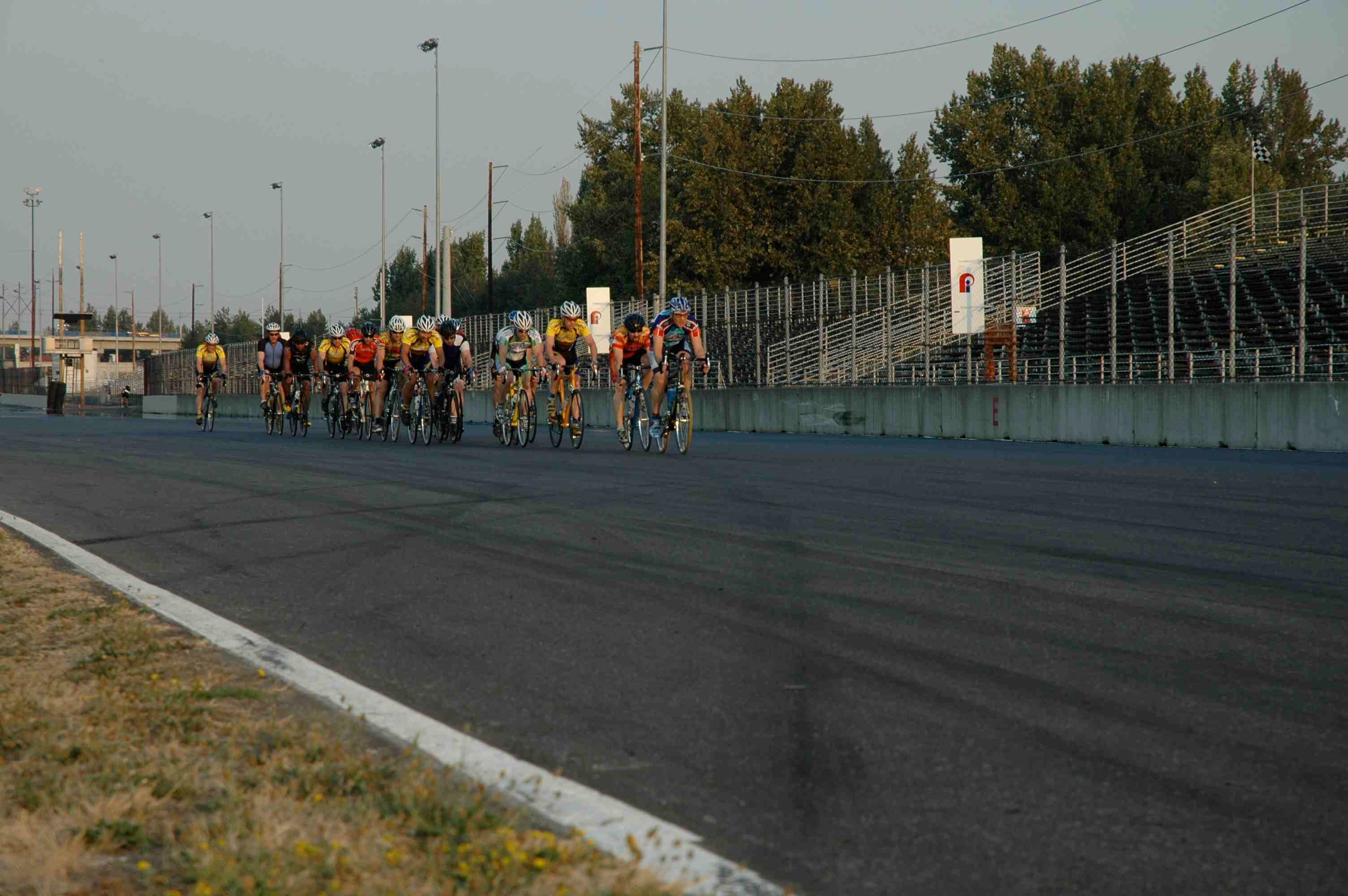 Action on the Portland International Raceway.