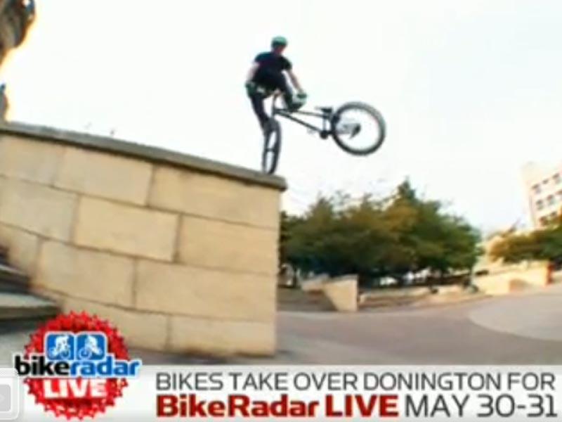 Danny MacAskill in action - see him at BikeRadar Live
