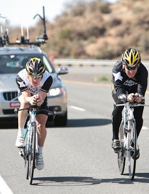 Levi Leipheimer and Lance Armstrong make a formidable pair in the time trial