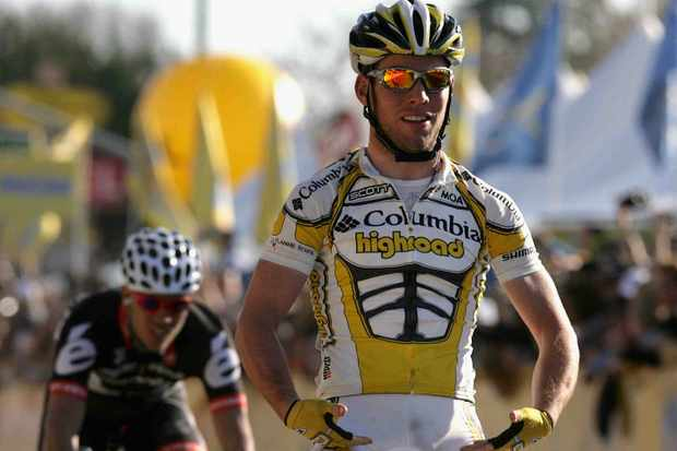 Columbia's Mark Cavendish wins Stage 5 of the 2009 Tour of California.