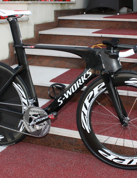 Fabian Cancellara (Saxo Bank) has a new time trial bike for this year's Giro d'Italia.
