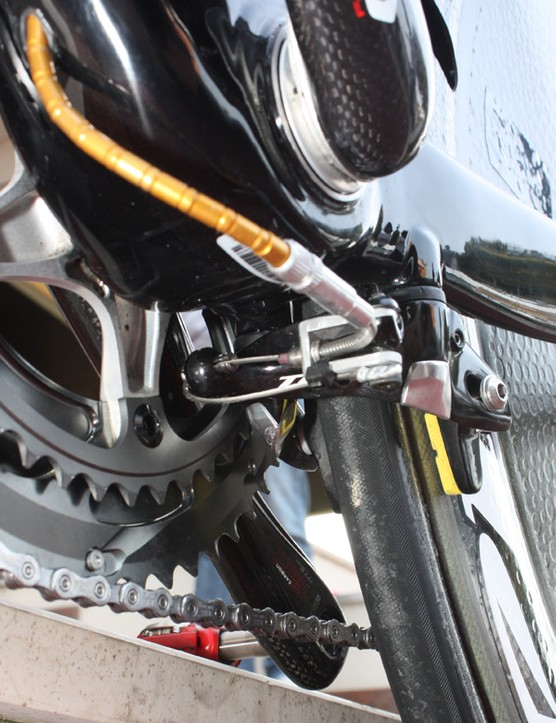 The rear brake is mounted below the chain stays where the air is already 'dirty'.