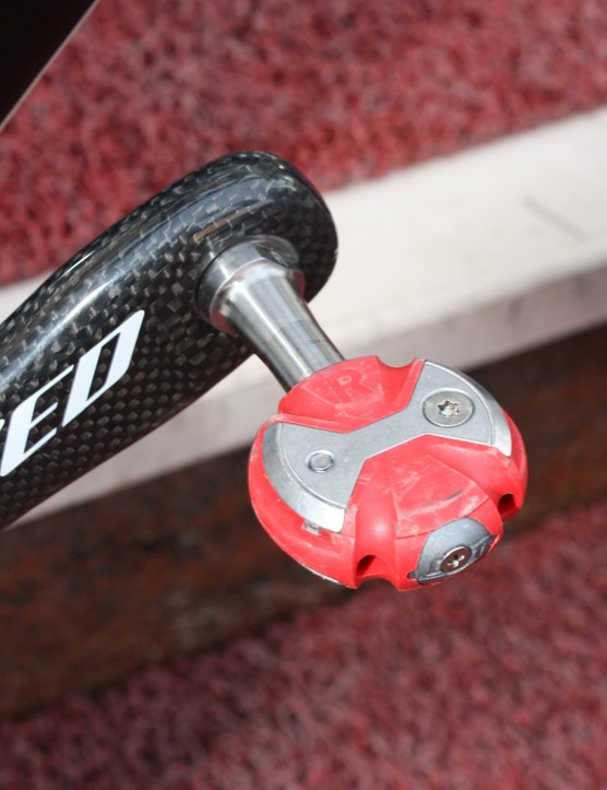 Speedplay Zero Titanium pedals are a common sight in the pro peloton these days.