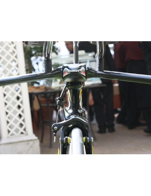 There's not much to see here what with the top tube hidden behind the stem -  just how the wind would see it.