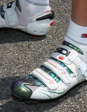 Sidi supplied Di Luca with a custom pair of shoes.