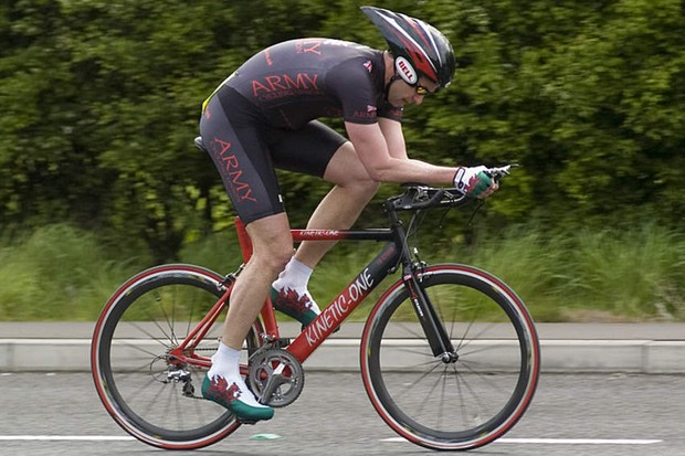 Major Gareth Rhys-Evans died while competing in a time trial on 3 May