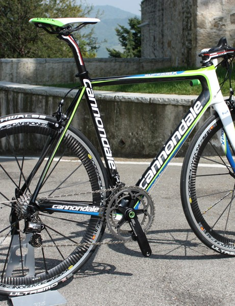 The new Cannondale SuperSix Hi-Mod frame is supposedly a 17 percent improvement over its forebear in terms of stiffness-to-weight and has also dropped 150g.