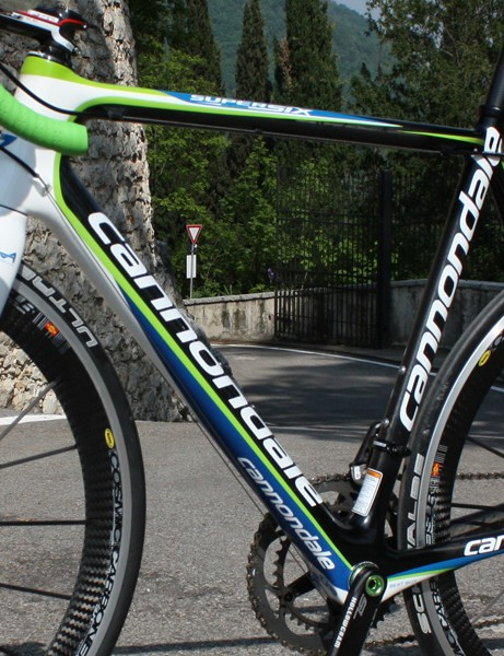 The giant down tube only looks proportional because the head tube and bottom bracket areas are similarly huge.