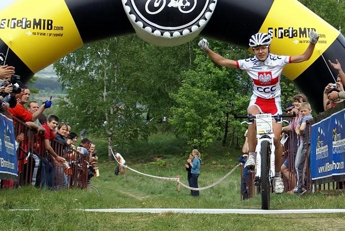 Maja Wloszczowska, host of the Jelenia Gora Trophy – Maja Wloszczowska MTB Race, came in second