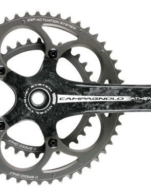 The 2010 Campagnolo Athena carbon crank option.