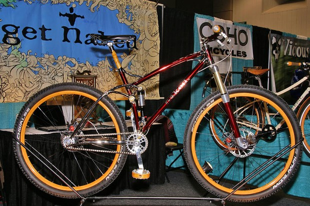 Naked builder Sam Whittingham builds some eccentric, lovely bicycles.