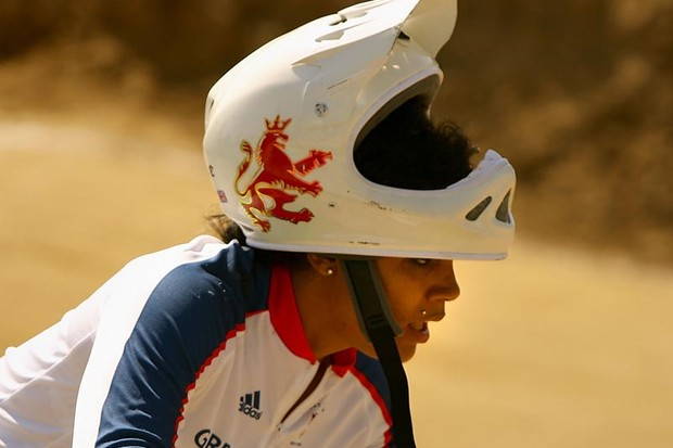 Shanaze in action at the 2008 Beijing Olympics