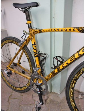 It would be hard to miss this bike in the midst of the peloton but we expect to more often see it at the front