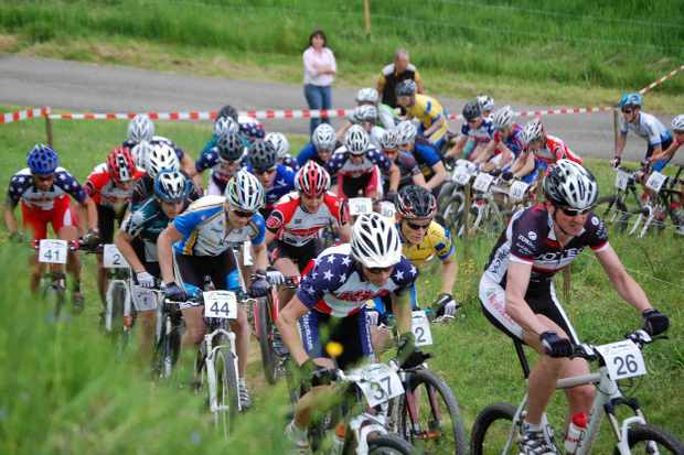 USA Cycling National Development mountain bike team took first and second place in Germany May 10, 2009.