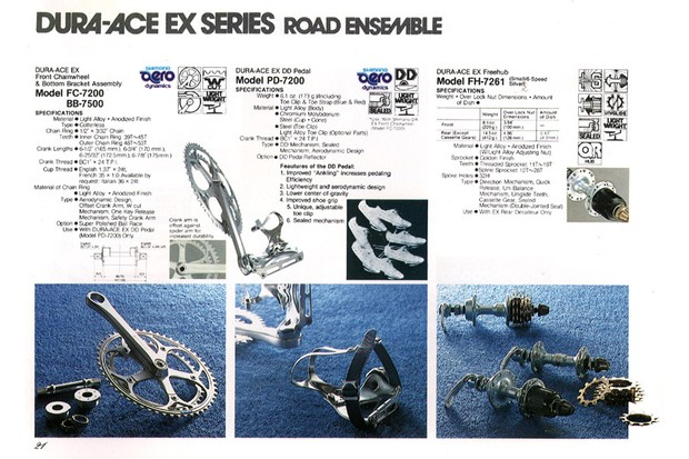 Shimano's Dyna-Drive pedals from the 1982 catalogue
