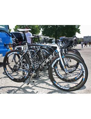 Garmin-Slipstream rider Bradley Wiggins has some special touches on his bike