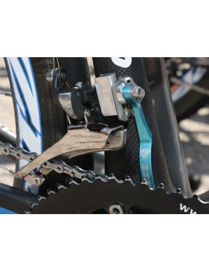 The rings' extreme shape requires some tweaking of the front derailleur plus a recently released K-Edge chain watcher for proper shifting