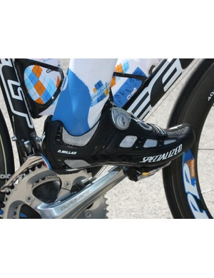 Specialized have provided Garmin-Slipstream rider David Millar with a pair of custom S-Works shoes