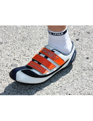 Garmin-Slipstream time trial specialist Dave Zabriskie uses custom shoes made by Rocket 7