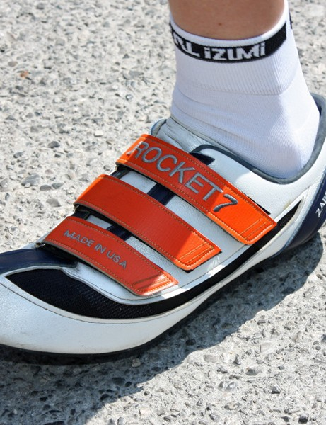 Garmin-Slipstream time trial specialist Dave Zabriskie uses custom shoes made by Rocket 7