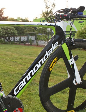 A special lay-up schedule has supposedly shed 150g from the frame, fork and seatpost.