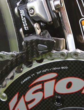 Basso will apparently run 54/42T chainrings for Stage 12's long and undulating time trial.